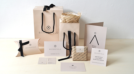 Moodboard Brandfield packaging