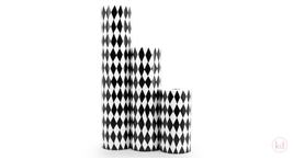 Wrapping Paper Harlequin Square Black