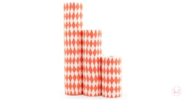 Wrapping Paper Harlequin Square Neon Orange