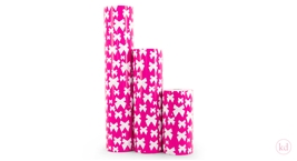 Wrapping Paper Jessica Nielsen Bow Hot Pink