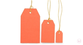 Kraft Paper Tags Neon Orange