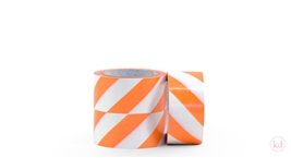 Tape Diagonal Stripe Neon Orange