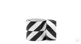 Tape Diagonal Stripe Black