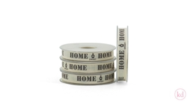 Luxus Band Ribbon Home Sweet Home Ecru