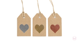 Kraft Paper Tag Heart Medium