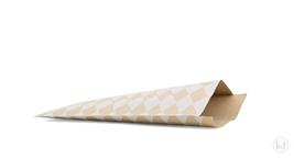 Flachbeutel Harlequin Square Kraft / White