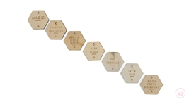 Wooden Tag Hexagon