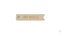 Wooden Tag Just Married