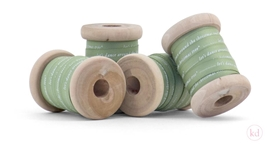 Wooden spools cotton ribbon lets dance