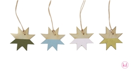 Wooden tag star dip dye