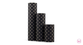 Wrapping Paper Star Kraft / Black