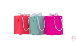 Paperbox/-bag ribbon medium neons