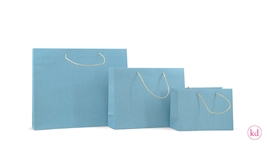 Paperbags kraft / sky blue
