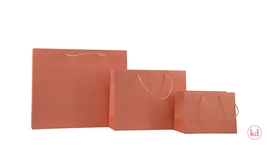 Paperbags kraft / soft orange