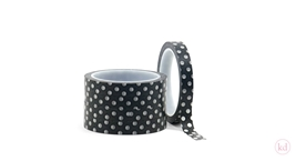 Masking Tape Dotted Black / White