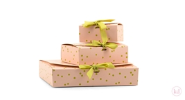 Giftbox hand drawn Dots Soft Pink