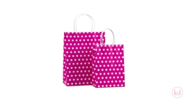 Paperbag twisted handle Little Dots Pink
