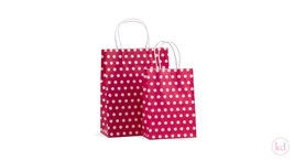 Paperbag twisted handle Little Dots Red