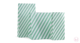 Blokbodem Zakken Stripes Mint