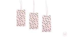 Paper Tags Hand Drawn Stripes