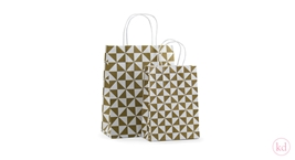 Paperbag twisted handle Piramide Olive