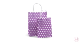 Paperbag twisted handle Little Dots Lila