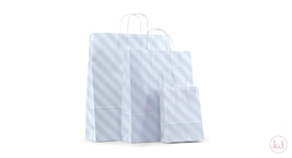 Paperbag Toptwist Diagonal Stripe Powder Blue