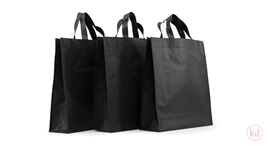 Non Woven Shopper Black With Holes