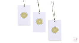 Paper Tags Sun Flower