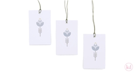 Paper Tags Blue Tulip