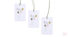 Paper Tags Balloons