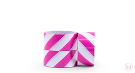 Tape Diagonal Stripe Pink