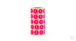Stickers Percentage Neon Pink