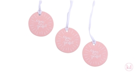 Papertags the Birds and the Bees You are perfect Pink