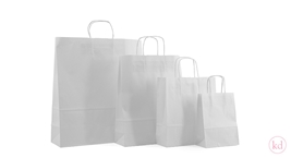 Paperbag twisted handle White Kraft