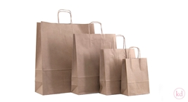 Paperbag Toptwist Brown Kraft