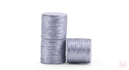 Elastic band round Silver 2mm