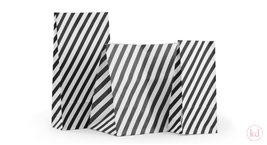 Blokbodem Zakken Stripes Black
