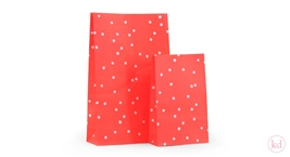 Block Bottom Bags Hand Drawn Dots Neon Orange