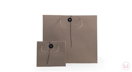 Paperbags Kraft with closing button