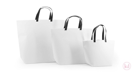 Paperbag White + Black Handle