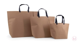 Paperbag Kraft + Black Handle
