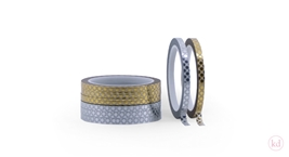 Masking Tape Metallic Dots