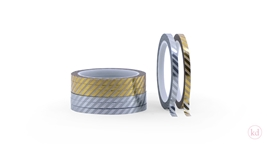 Masking Tape Metallic Stripes