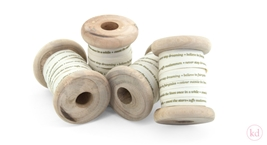 Wooden Spool TM Tinne+Mia Light Creme