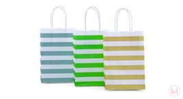 Paperbag twisted handle Stripe