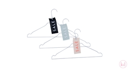 Sale tags cotton medium