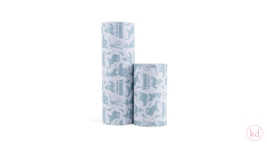 Wrapping paper Geertje Aalders stapeldieren sage green