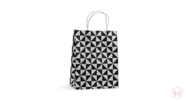 Paperbag top twist piramide black