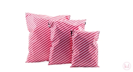 shipping bags Stripes Neon Orange